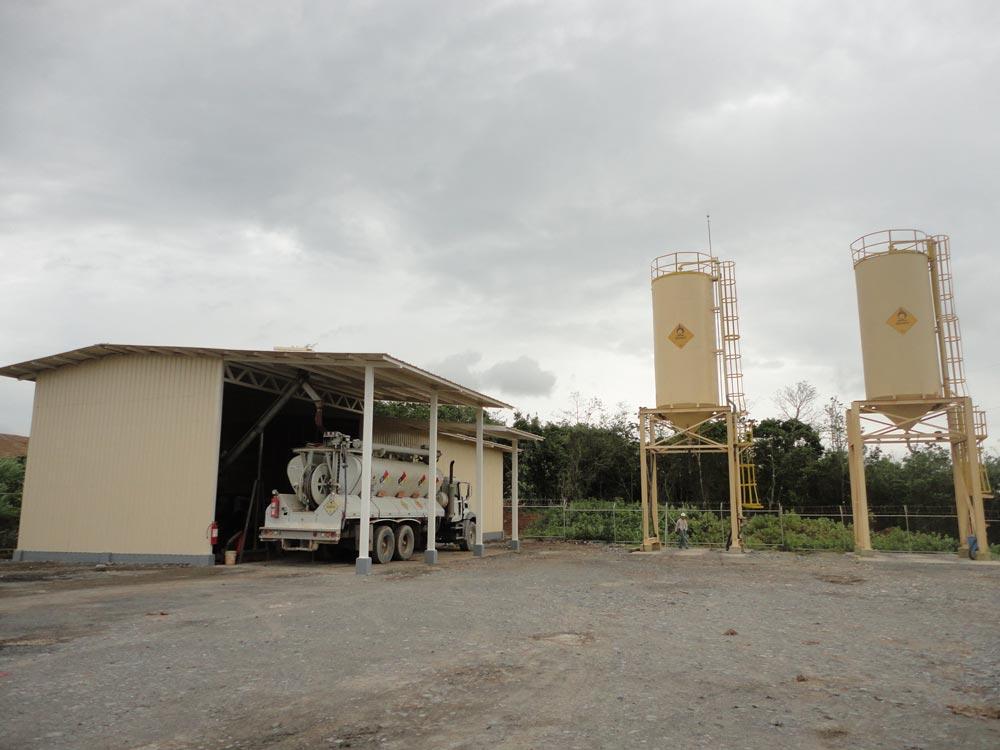 Construcción de Bodega de Nitrato de Amonio - Polvorin en Mira B2GOLD - Construcción de Obras Civiles - Reinar S.A
